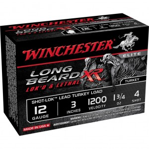 Winchester Long Beard XR Shot-Lok 12 Gauge 4 Shot 10rd Ammo