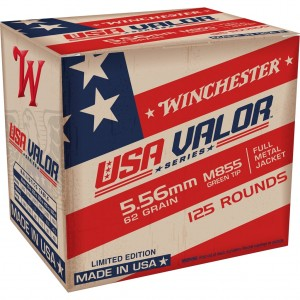 Winchester USA Valor M855 Green Tip 5.56mm 125rd Ammo