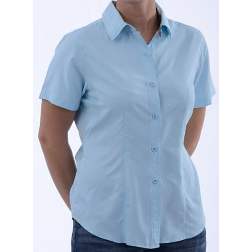 GameGuard Ladies' Sky Blue MicroFiber Shirt